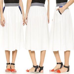 J.O.A. Band Stripe Skirt